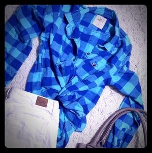 Small Hollister Plaid Button Up